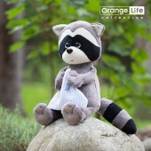 Denny the Raccoon with towel
